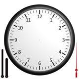κενό ρολόι εξατομικεύσιμ Στοκ Εικόνες