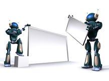 κενό ρομπότ πινάκων διαφημίσ&ep απεικόνιση αποθεμάτων