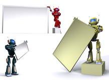 κενό ρομπότ πινάκων διαφημίσ&ep ελεύθερη απεικόνιση δικαιώματος