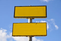 κενό σημάδι κίτρινο Στοκ φωτογραφία με δικαίωμα ελεύθερης χρήσης