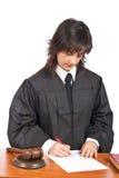 κενό σημάδι κατάταξης δικαστών δικαστηρίων θηλυκό στοκ εικόνες