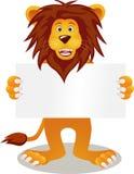 κενό σημάδι λιονταριών Στοκ Φωτογραφία