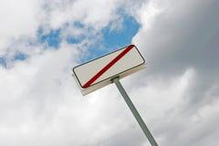 κενό σημάδι περιορισμού Στοκ εικόνες με δικαίωμα ελεύθερης χρήσης