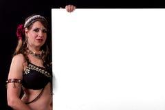 κενό σημάδι χορευτών κοι&lambda Στοκ Φωτογραφία