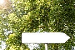 Κενό σημάδι βελών στο τροπικό δάσος με το διάστημα για το κείμενο, κενό διάστημα Στοκ Εικόνες