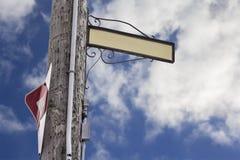Κενό σημάδι οδών σε ένα lamppost Στοκ Εικόνες
