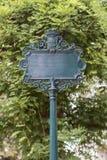 Κενό σημάδι οδών Στοκ εικόνα με δικαίωμα ελεύθερης χρήσης