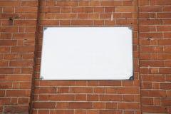 Κενό σημάδι οδών Στοκ φωτογραφίες με δικαίωμα ελεύθερης χρήσης