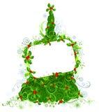 Κενό σημάδι στο χριστουγεννιάτικο δέντρο Στοκ φωτογραφίες με δικαίωμα ελεύθερης χρήσης