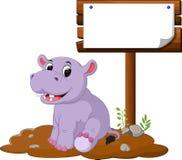 κενό σημάδι hippo Στοκ Εικόνες