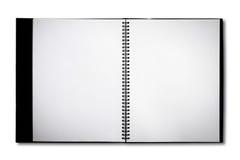 Σημειωματάριο που απομονώνεται κενό στοκ φωτογραφία