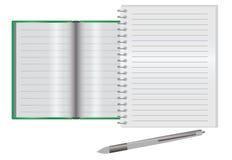 Κενό σημειωματάριο σε ένα γραφείο Στοκ φωτογραφίες με δικαίωμα ελεύθερης χρήσης