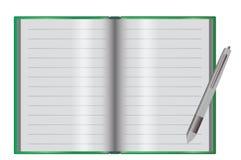 Κενό σημειωματάριο σε ένα γραφείο Στοκ φωτογραφία με δικαίωμα ελεύθερης χρήσης