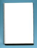 κενό σημειωματάριο Στοκ Εικόνα