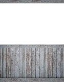 Κενό σκηνικό με το σκοτεινό beadboard Στοκ Φωτογραφία