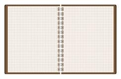 Κενό σπειροειδές σημειωματάριο με το τακτοποιημένο πρότυπο σελίδων Διανυσματικό Illust διανυσματική απεικόνιση