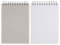Κενό σπειροειδές σημειωματάριο που απομονώνεται στο λευκό Στοκ φωτογραφίες με δικαίωμα ελεύθερης χρήσης