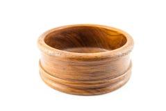 Κενό στρογγυλό ξύλινο κιβώτιο Στοκ Φωτογραφίες