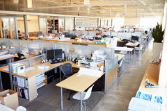 Κενό σύγχρονο ανοικτό γραφείο σχεδίων Στοκ φωτογραφία με δικαίωμα ελεύθερης χρήσης