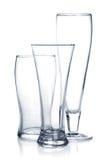 Κενό σύνολο γυαλιού μπύρας Στοκ Εικόνα