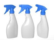Κενό σύνολο συσκευασίας μπουκαλιών ψεκασμού με το ψαλίδισμα της πορείας στοκ εικόνες με δικαίωμα ελεύθερης χρήσης