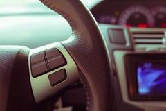 Κενό σύστημα ελέγχου κουμπιών στο τιμόνι αυτοκινήτων που χρησιμοποιείται για τη θέση Στοκ φωτογραφία με δικαίωμα ελεύθερης χρήσης