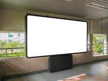 Κενό τοπίο διαφήμισης πινάκων διαφημίσεων στο δημόσιο μέσο μεταφοράς στοκ φωτογραφία με δικαίωμα ελεύθερης χρήσης