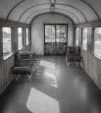 Κενό τραίνο μέσα, κανένας άνθρωπος Στοκ Εικόνα
