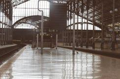κενό τραίνο σταθμών στοκ φωτογραφία με δικαίωμα ελεύθερης χρήσης