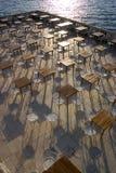 κενό υπαίθριο εστιατόρι&omicro Στοκ εικόνα με δικαίωμα ελεύθερης χρήσης