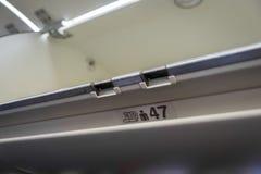 κενό υπερυψωμένο διαμέρισμα αποσκευών του αεροπλάνου Στοκ φωτογραφίες με δικαίωμα ελεύθερης χρήσης