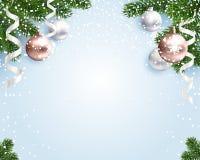 Κενό υπόβαθρο Χριστουγέννων για τα συγχαρητήρια Στοκ φωτογραφίες με δικαίωμα ελεύθερης χρήσης