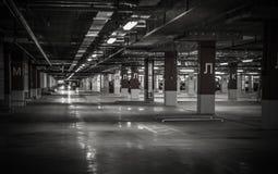 Κενό υπόγειο γκαράζ χώρων στάθμευσης Στοκ Εικόνες
