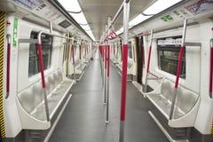 Κενό υπόγειο τρένο Στοκ εικόνα με δικαίωμα ελεύθερης χρήσης