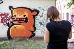 Κενό φεστιβάλ οδός-τέχνης καμβά Στοκ φωτογραφία με δικαίωμα ελεύθερης χρήσης