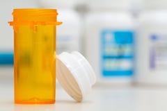 κενό φιαλίδιο φαρμακείων Στοκ Φωτογραφίες