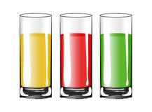 Κενό φλυτζάνι γυαλιού κατανάλωσης με το χυμό απομονωμένος επίσης corel σύρετε το διάνυσμα απεικόνισης διανυσματική απεικόνιση