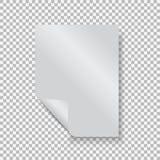 Κενό κενό φύλλο εγγράφου A4 με τη γωνία μπουκλών Στοκ φωτογραφία με δικαίωμα ελεύθερης χρήσης