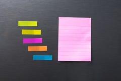 Κενό φύλλο εγγράφου στην πόρτα ψυγείων Στοκ εικόνα με δικαίωμα ελεύθερης χρήσης