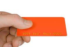 κενό χέρι έκπτωσης καρτών Στοκ εικόνα με δικαίωμα ελεύθερης χρήσης