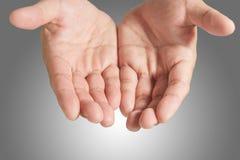 κενό χέρι ανοικτό Στοκ φωτογραφία με δικαίωμα ελεύθερης χρήσης
