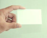 κενό χέρι καρτών Στοκ Εικόνα