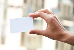 κενό χέρι καρτών Στοκ εικόνα με δικαίωμα ελεύθερης χρήσης