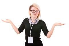 κενό χαμόγελο ταυτότητας επιχειρηματιών διακριτικών Στοκ φωτογραφία με δικαίωμα ελεύθερης χρήσης
