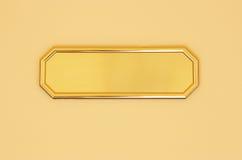 κενό χρυσό σημάδι Στοκ εικόνα με δικαίωμα ελεύθερης χρήσης