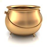 κενό χρυσό δοχείο Στοκ Εικόνα