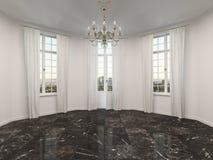 Κενό δωμάτιο με ένα μαρμάρινο πάτωμα διανυσματική απεικόνιση