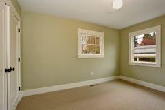 Κενό δωμάτιο με το πράσινο εσωτερικό και τον τάπητα Στοκ εικόνες με δικαίωμα ελεύθερης χρήσης