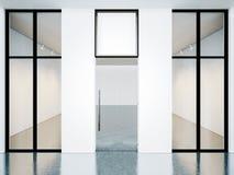 Κενό δωμάτιο της σύγχρονης στοάς με το κενό Στοκ φωτογραφία με δικαίωμα ελεύθερης χρήσης