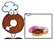 κενό doughnut αρχιμαγείρων donuts που & Στοκ φωτογραφία με δικαίωμα ελεύθερης χρήσης
